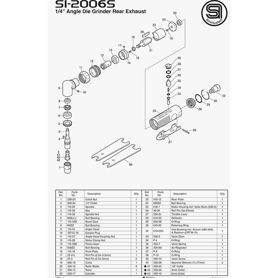 نقشه انفجاری si2006 شینانو