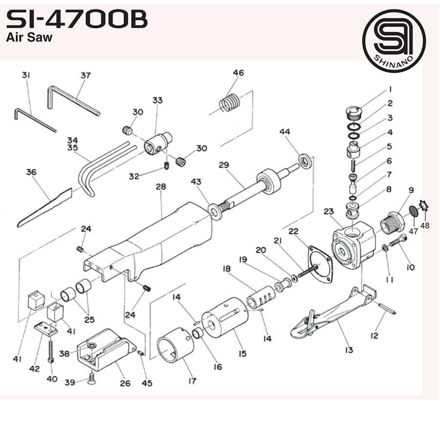نقشه انفجاری شینانو SI4700B